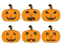 Halloween Pumpkins. An image of a set of Halloween Pumpkins Stock Photos