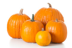 Halloween pumpkins isolated Stock Photo