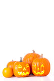 Halloween pumpkins isolated Stock Image