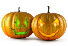 Halloween pumpkins isolated on a white. vector illustration