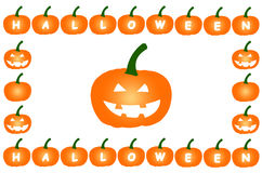 Halloween Pumpkins on Isolated White Background Stock Photography