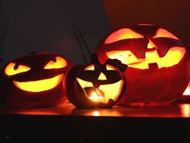 Halloween pumpkins Jack o Lantern Royalty Free Stock Images