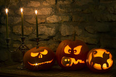 Halloween Pumpkins - Jack OLantern Royalty Free Stock Images