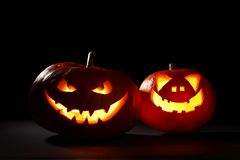 Halloween pumpkins jack-o-lantern Stock Photo
