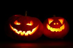 Halloween pumpkins jack-o-lantern Royalty Free Stock Photo