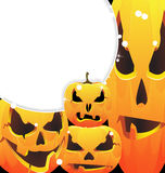 Halloween pumpkins jack-o-lanterns Royalty Free Stock Images
