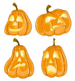 Halloween pumpkins Jack O Lanterns Stock Photos