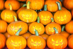 Halloween pumpkins. A lot of Halloween pumpkins stock images