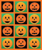 Halloween pumpkins pattern Royalty Free Stock Image