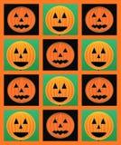 Halloween pumpkins pattern Royalty Free Stock Image