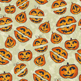 Halloween pumpkins pattern. Cute seamless Stock Photography