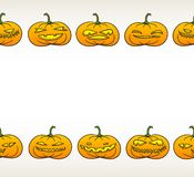 Halloween pumpkins pattern Royalty Free Stock Photography