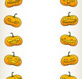 Halloween pumpkins pattern Royalty Free Stock Images