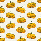 Halloween pumpkins pattern Stock Photography
