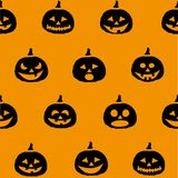 Halloween Pumpkins. Postcard. Vector illustration Royalty Free Stock Photography