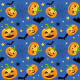 Halloween Pumpkins Seamless Royalty Free Stock Photography