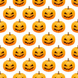 Halloween pumpkins seamless background. Seamless pattern with halloween pumpkins on white background Royalty Free Stock Photography