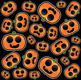 Halloween pumpkins seamless background Stock Photos