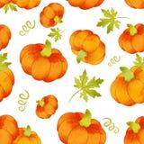 Halloween pumpkins seamless trendy pattern. Watercolor. Halloween pumpkins seamless Bright trendy pattern. Watercolor royalty free illustration