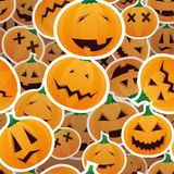 Halloween pumpkins - seamless pattern Royalty Free Stock Photography
