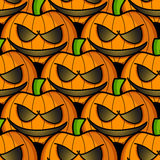 Halloween pumpkins. Seamless pattern. Royalty Free Stock Image