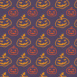 Halloween pumpkins seamless pattern Stock Photo