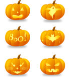 Halloween pumpkins set Stock Photography