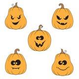 Halloween pumpkins set Stock Image