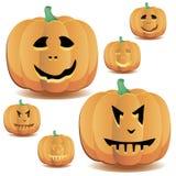 Halloween pumpkins set 9 royalty free illustration
