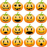 Halloween Pumpkins Set stock illustration