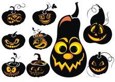 Halloween pumpkins set Royalty Free Stock Photo