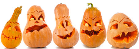 Halloween pumpkins Stock Photography