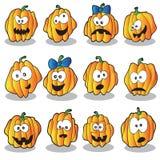 Halloween pumpkins set Stock Photos