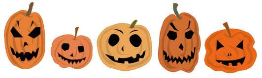 Halloween pumpkins set Stock Photography