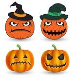 Halloween pumpkins set. Stock Image