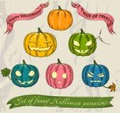 Halloween pumpkins set. Stock Photos