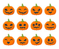 Halloween pumpkins set vector illustration Royalty Free Stock Image
