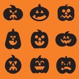 Halloween Pumpkins Set Royalty Free Stock Image