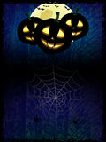 Halloween pumpkins silhouette Royalty Free Stock Photo