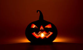 Halloween pumpkins smile and scrary eyes Stock Photography