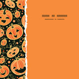 Halloween pumpkins square torn frame seamless Stock Images