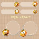 Halloween pumpkins - stickers Royalty Free Stock Photos