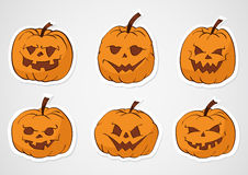 Halloween pumpkins stickers Royalty Free Stock Photography