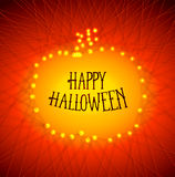 Halloween pumpkins from strained threads Royalty Free Stock Photos
