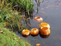 Halloween pumpkins Royalty Free Stock Photos