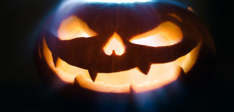 Halloween pumpkins are symbols of halloween night. Royalty Free Stock Photos