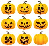 Halloween pumpkins theme set 1. Eps10 vector illustration Stock Photo