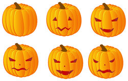 Halloween pumpkins variation Stock Images