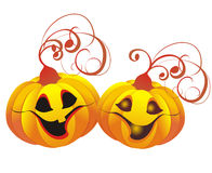 Halloween Pumpkins. Vector illustration Royalty Free Stock Photography