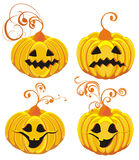 Halloween Pumpkins. Vector illustration  Stock Photo